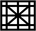 Diagonal Cross Balustrade