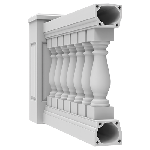 """7-1/2"""" Synthetic Stone Balustrade System"""